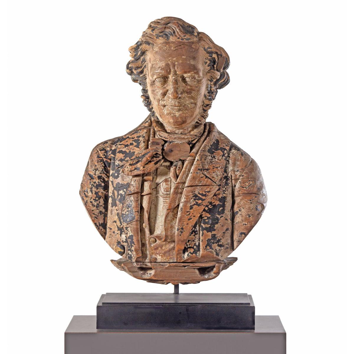 A Finely Carved Pine Sternboard Portrait Bust of Daniel Webster, Sag Harbor,  New York, Circa 1850 .jpg
