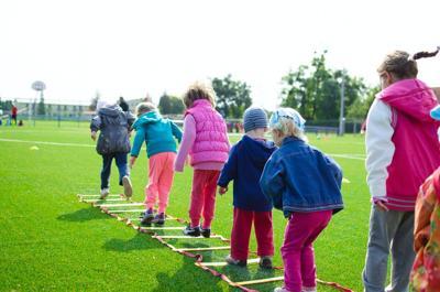 Kids playing stock