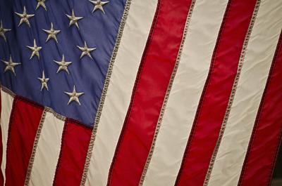 American flag closeup stock