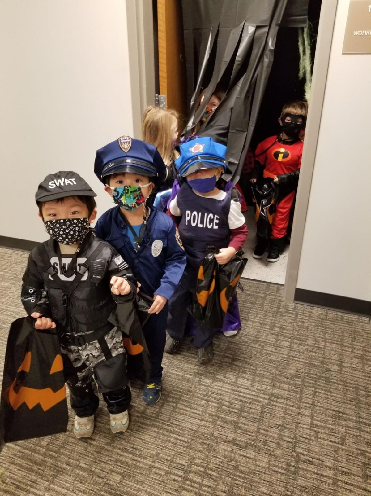 Preschoolers end week with trick or treating
