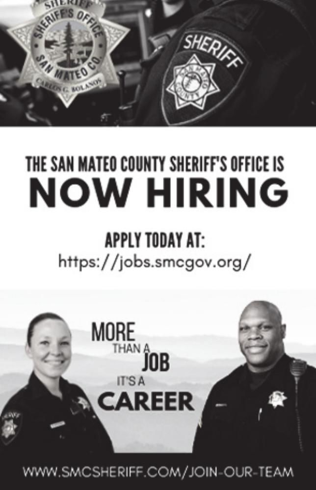 San Mateo County Sheriff's Office is HIRING