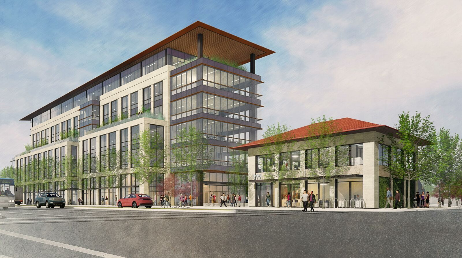 Seven-story office building proposed in Redwood City