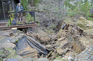 Sinkhole threatens San Mateo home: Property owner questions who's responsible for stormwater