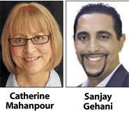 Catherine Mahanpour to be mayor and Sanjay Gehani to be vice mayor