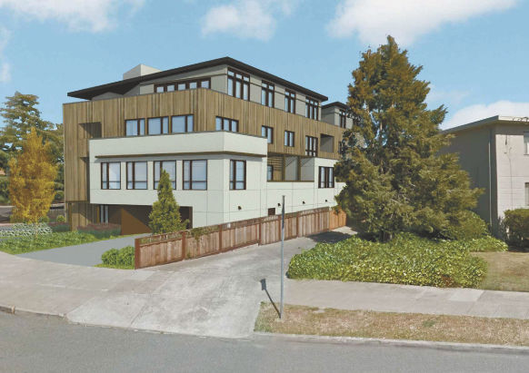 An Artistu0027s Rendering Of A Nine Unit Apartment Building Approved By The San  Carlos Planning Commission Last Week.