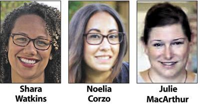 Shara Watkins,  Noelia Corzo and Julie MacArthur