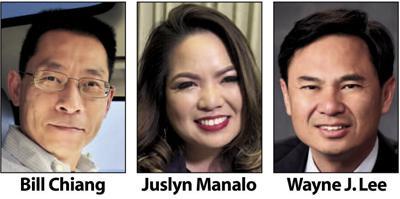 Bill Chiang, Juslyn Manalo and Wayne J. Lee