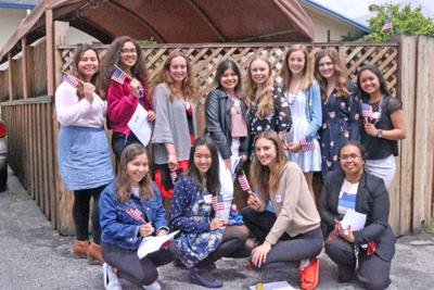 Girls state high school junior delegates