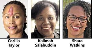 Cecilia Taylor, Kalimah Salahuddin and Shara Watkins