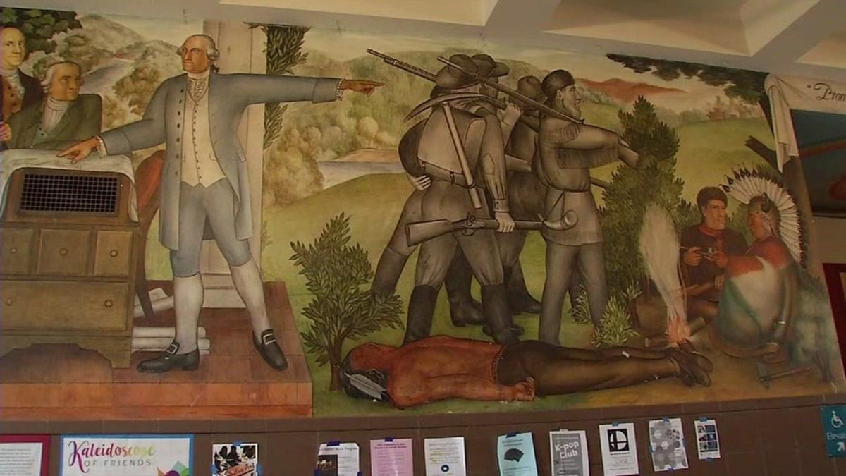 Decision overturns  San Francisco Unified School District Board decision  to cover Washington High mural