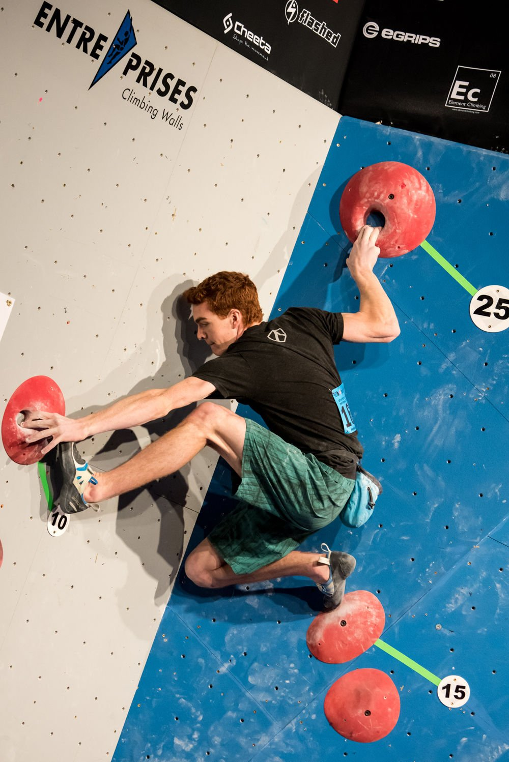 Ross Fulkerson USA Climbing Youth Bouldering Nationals