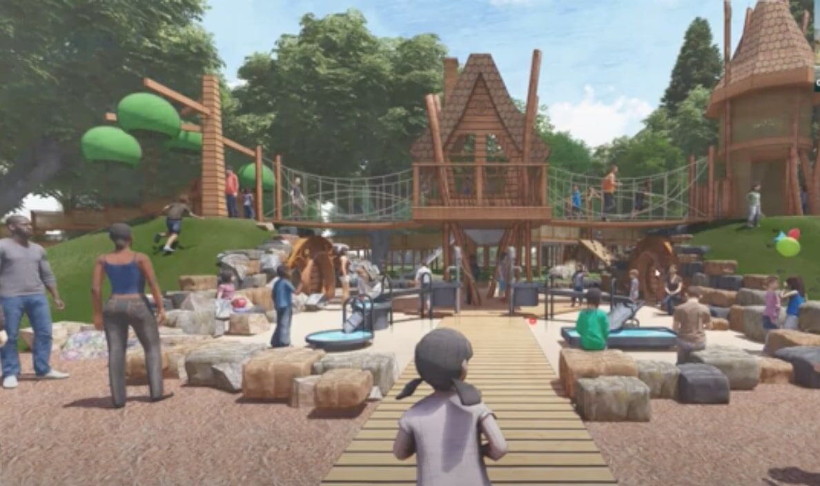 Adventure village playground design