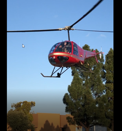 No one injured when helicopter lands in Kmart parking lot in Redwood City