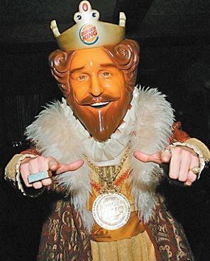 Burger King Mascot Sign