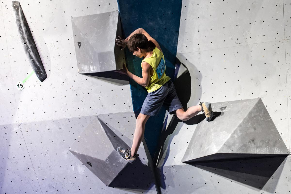 Connor Herson USA Climbing Youth Bouldering Nationals