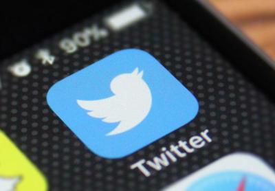 Twitter app phone logo