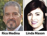Rico Medina and Linda Mason