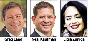 Greg Land, Neal Kaufman and Ligia Zuniga