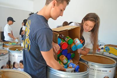 San Mateo High School canned food drive