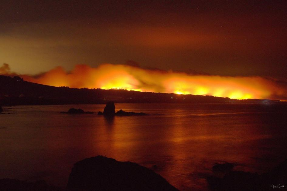 San Mateo County officials say avoid the coast while fires rage