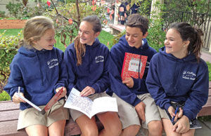 eighth graders try going tech free st matthew students say two