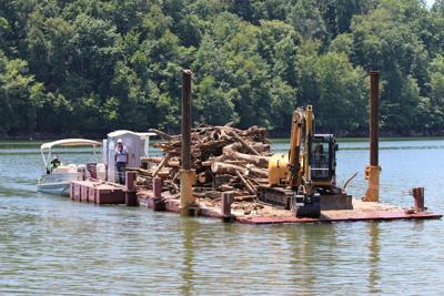 Debris on Leesville Lake