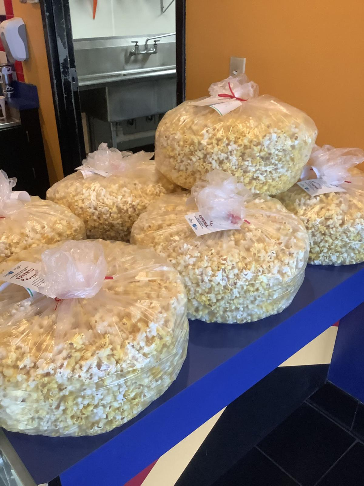 Popping corn for a cause