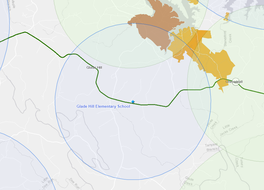 Glade Hill internet map