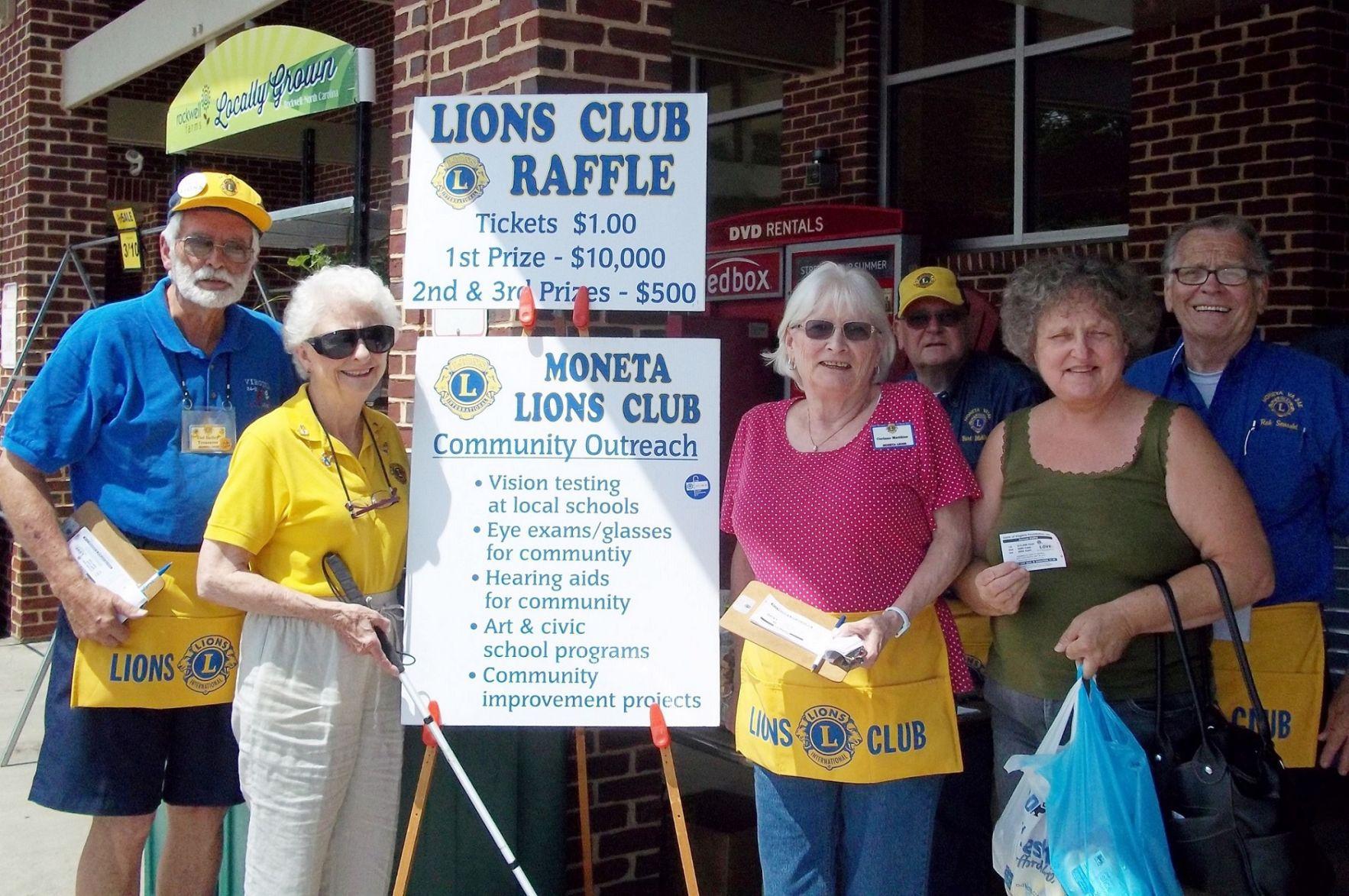 moneta lions club sell tickets for annual raffle