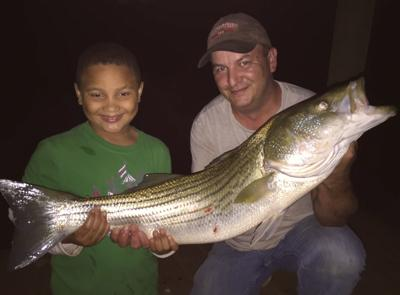 Young Moneta resident catches his first striper