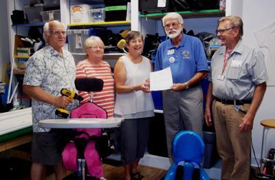 Moneta Lions donate to CATS' Hallowheels project
