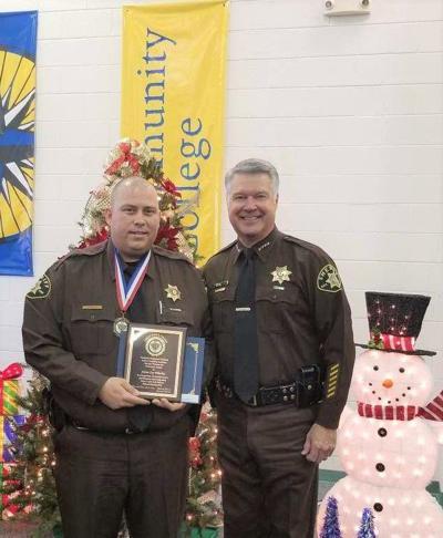Deputy Adam Whorley and Sheriff Bill Overton