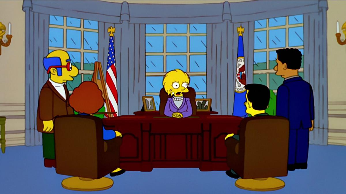 'The Simpsons' seemed to get it right again -- by predicting part of the inauguration