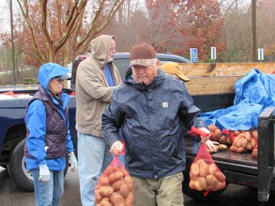 Potatoes delivered to area food banks