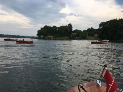 Antique boat club takes an Independence Day cruise