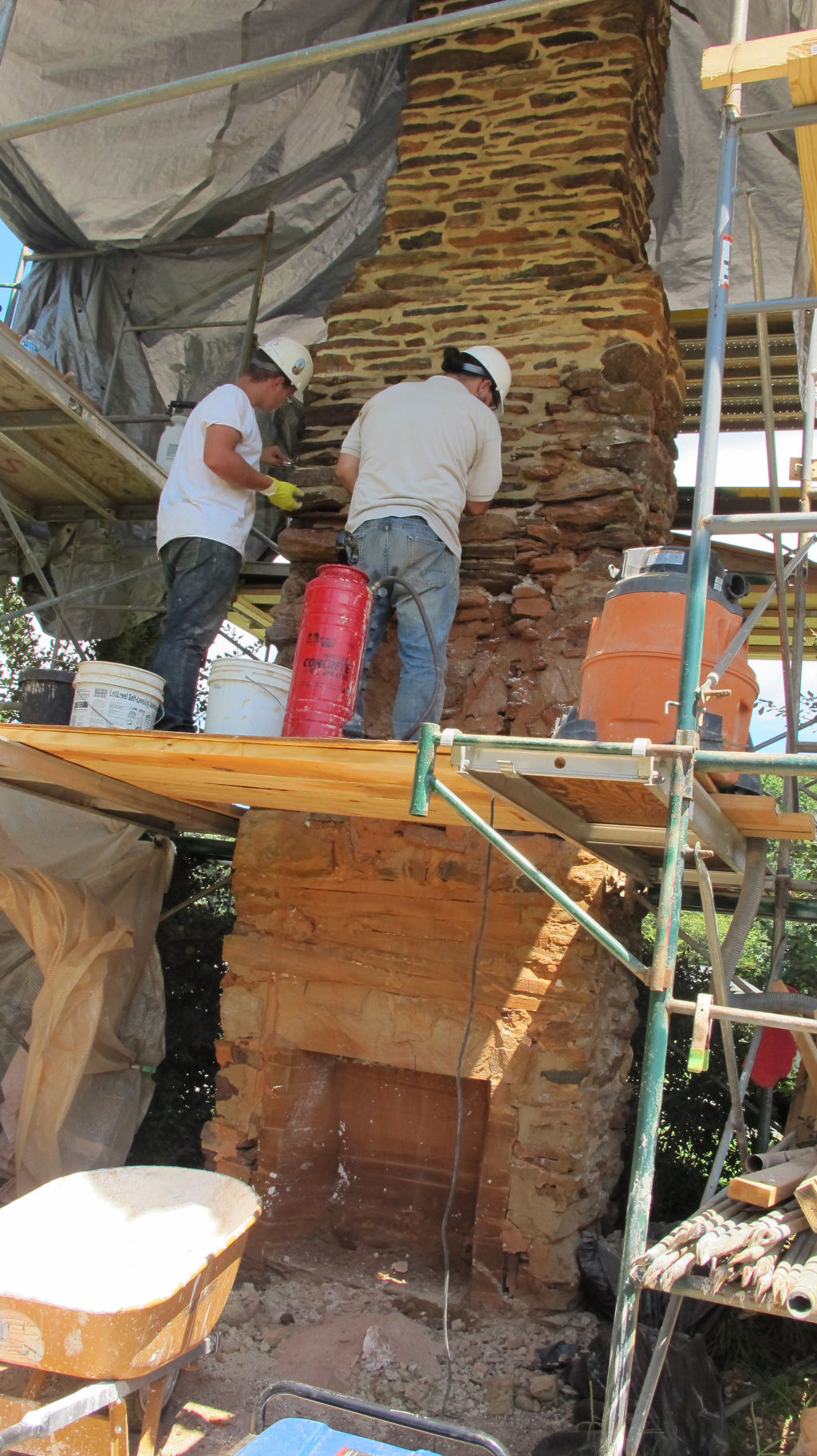 Craftsmen repair historic sml chimneys community for Twin chimneys