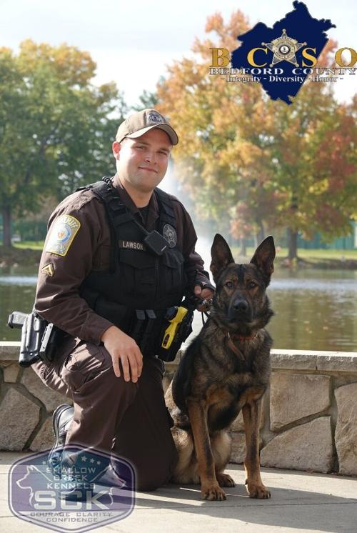 Deputy Taylor Lawson and K9 officer Toto