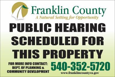 Franklin County public hearing signs