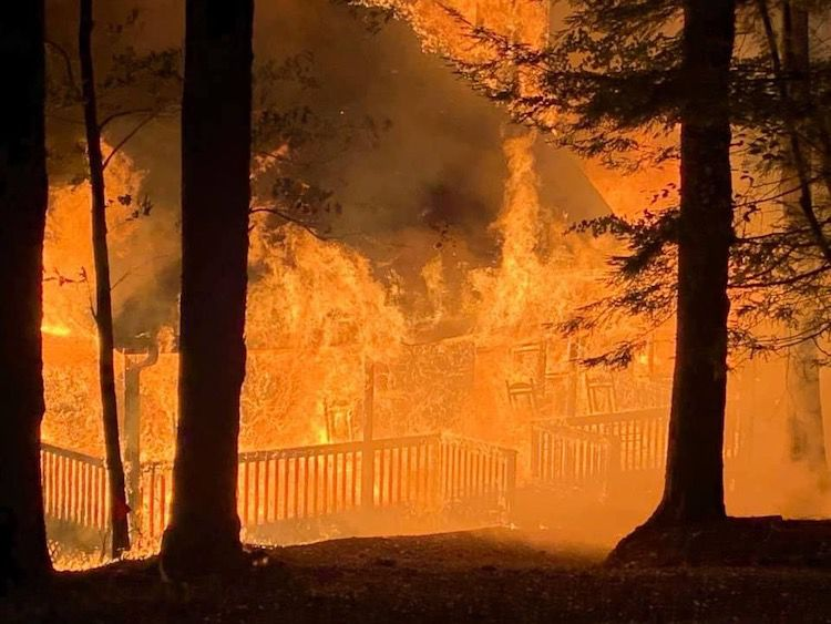 """Fire at 81 Lady Slipper Lane """"largest complete loss to a house in Big Canoe since October 2016"""""""