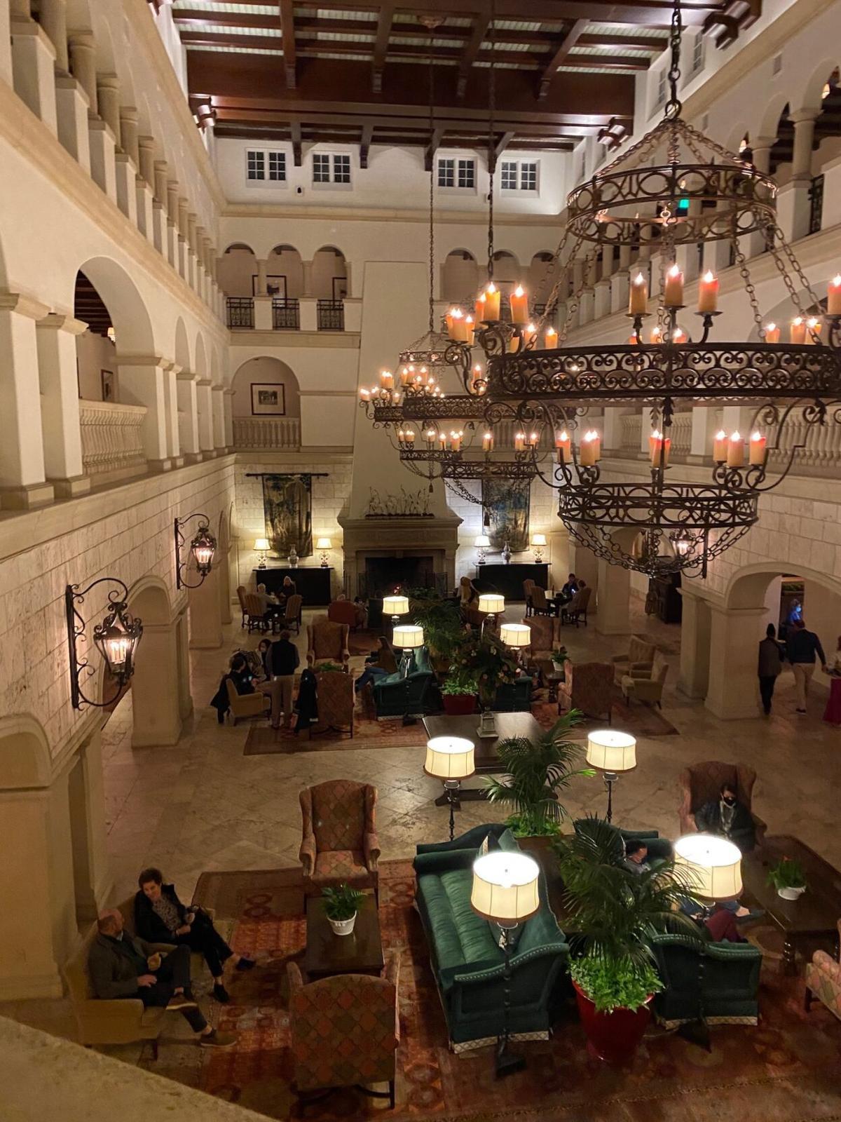 The lobby at The Cloister.