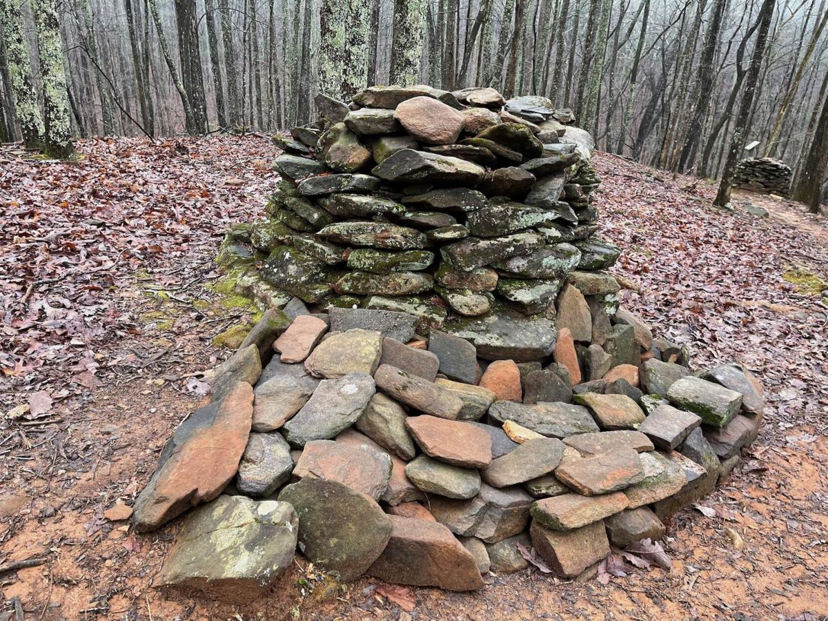 This ancient Indian mound was carefully stabilized to its original condition.