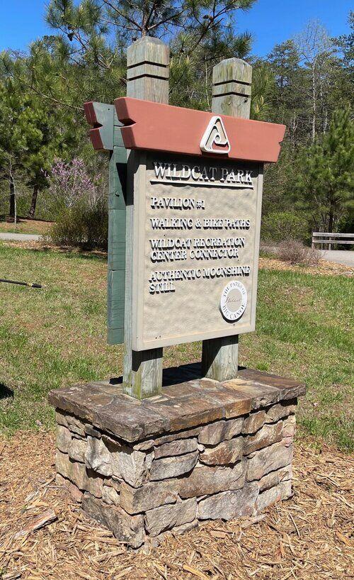 Wildcat sign before