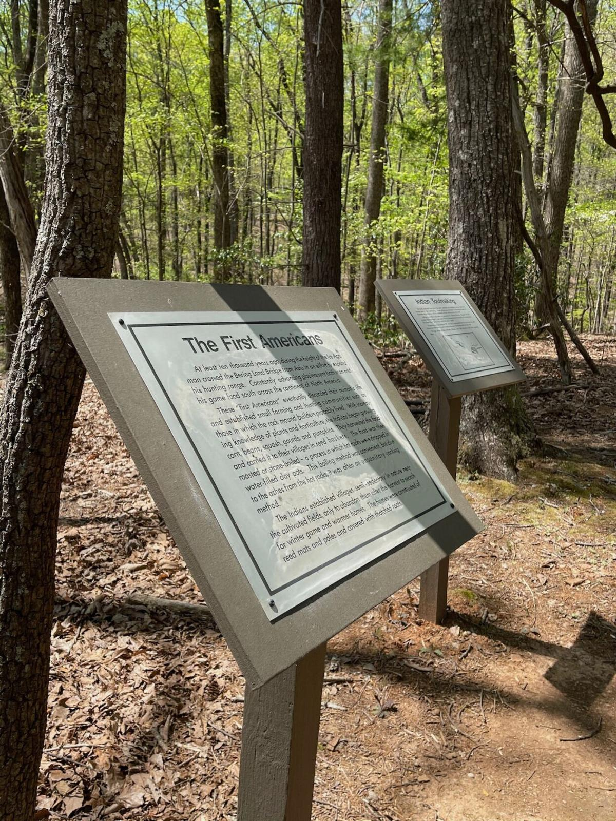 Informative signs were cleaned and restored by the Trails Committee.