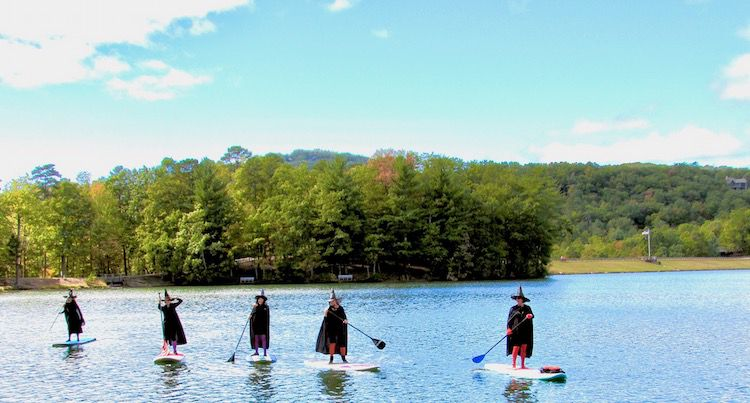 The good water witches of Lake Petit prepare for Halloween