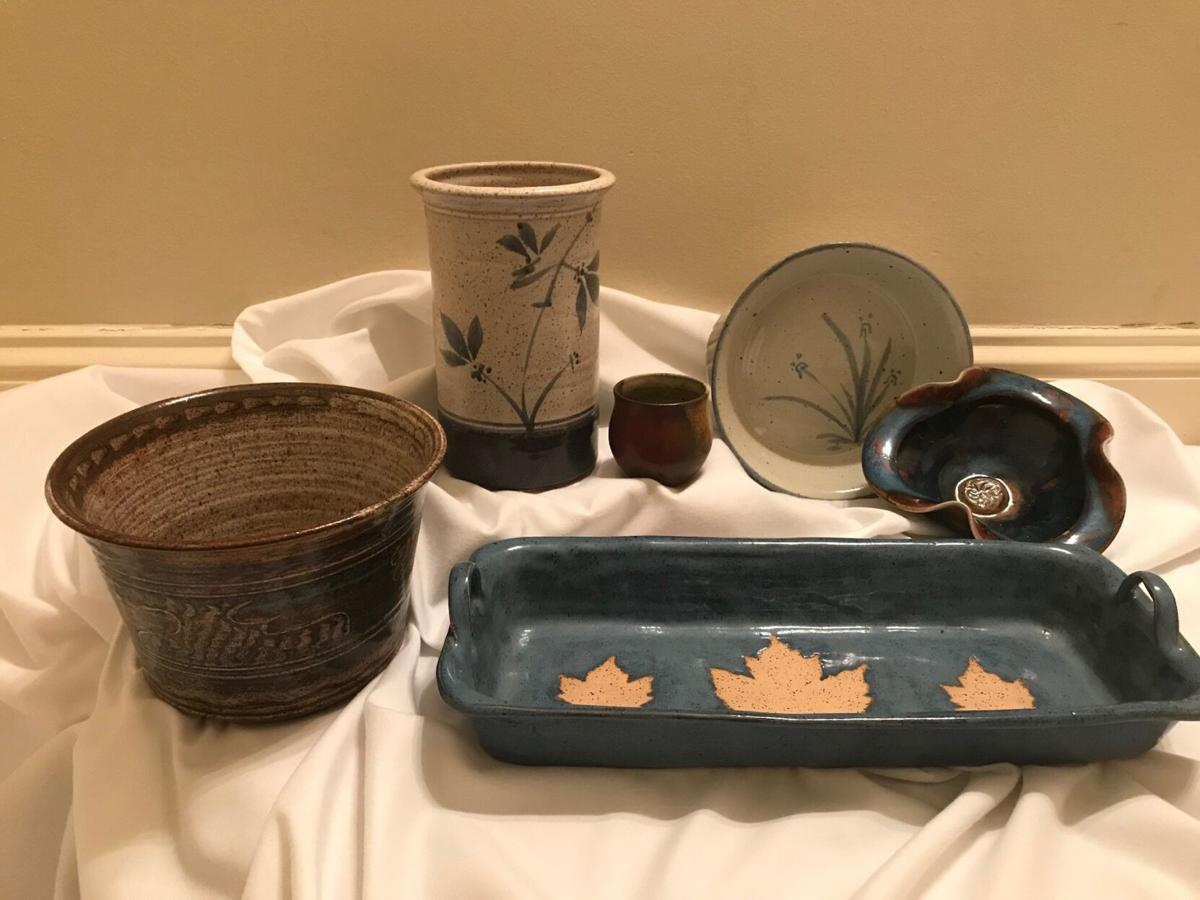 Gorgeous pottery is offered for sale at the event.