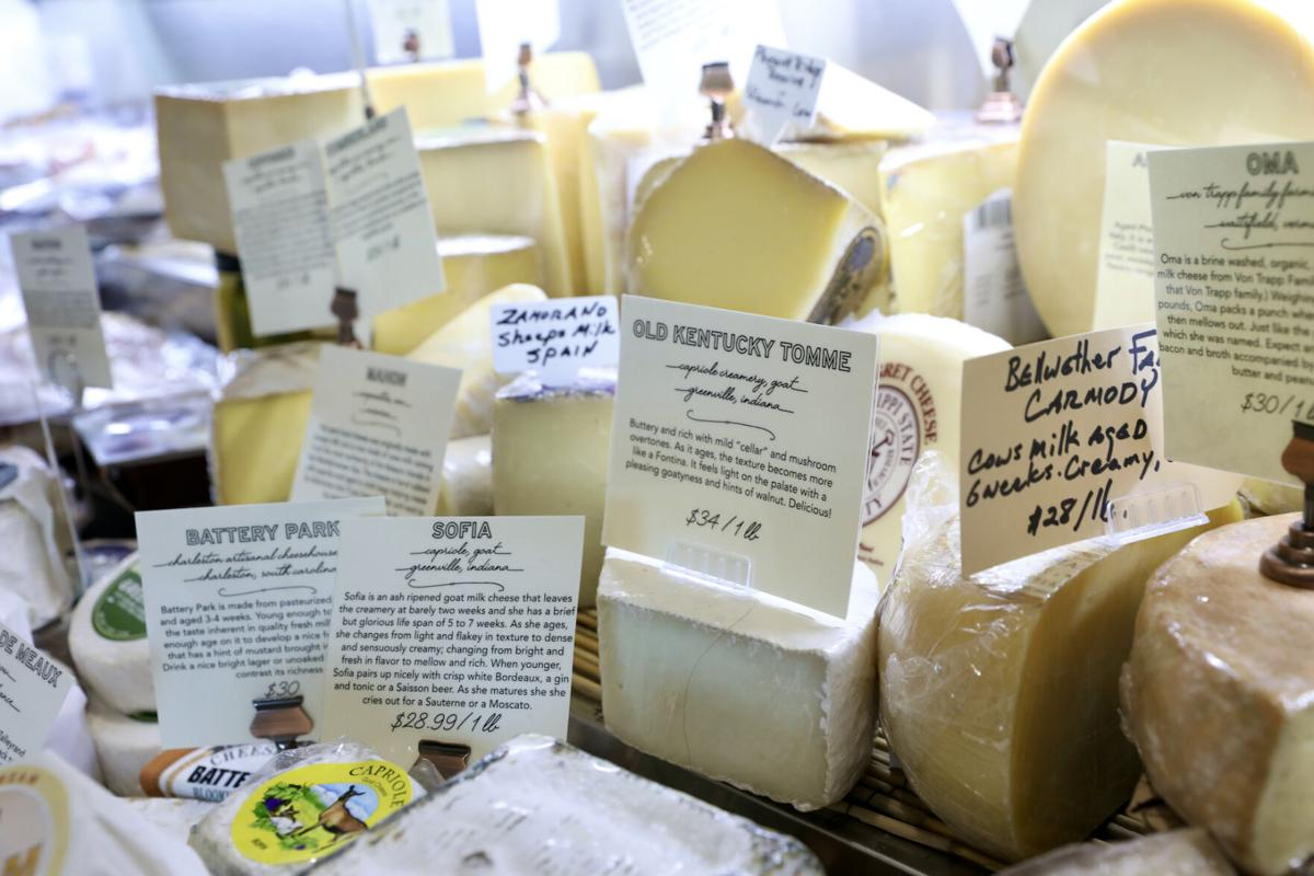 Artisan cheeses at The Buttery.