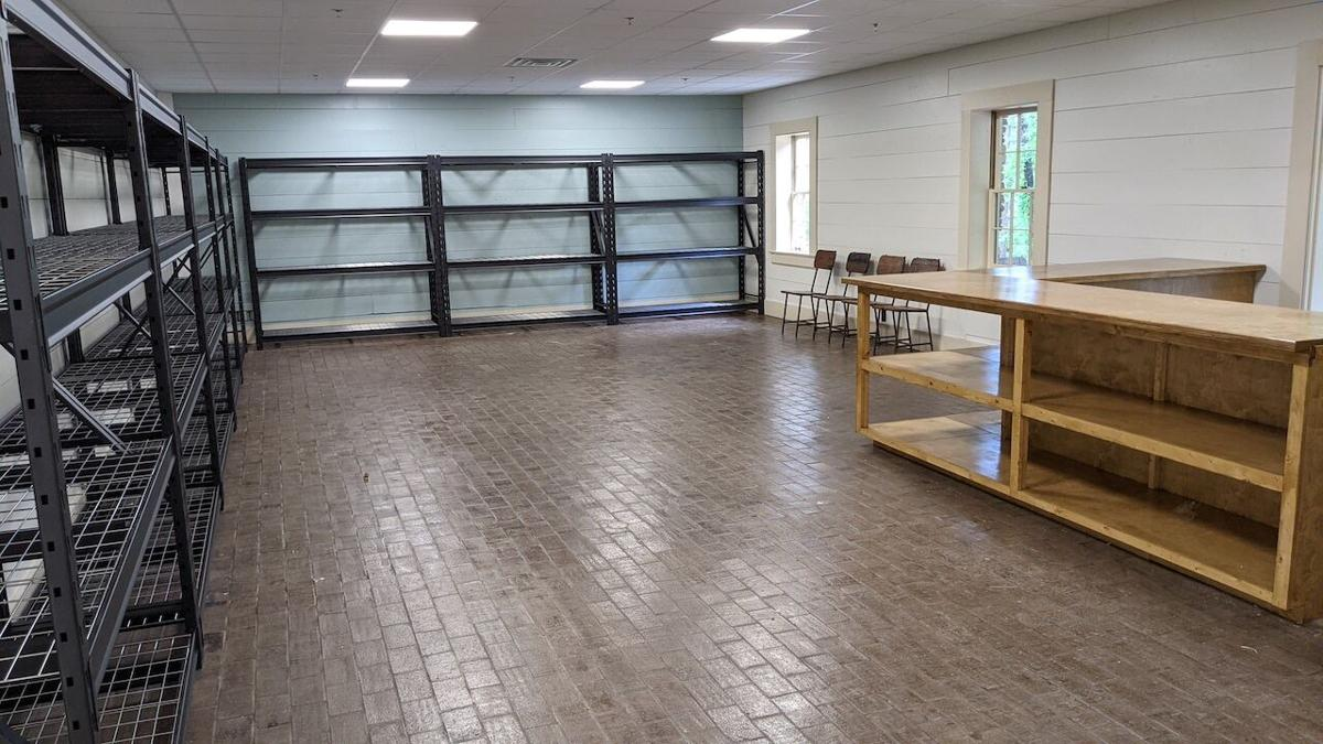 Interior of the new package facility.
