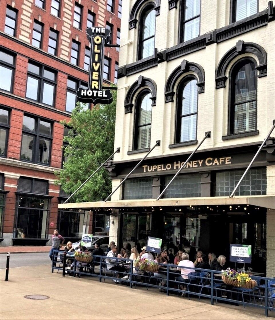The Oliver Hotel with Tupelo Honey Cafe.