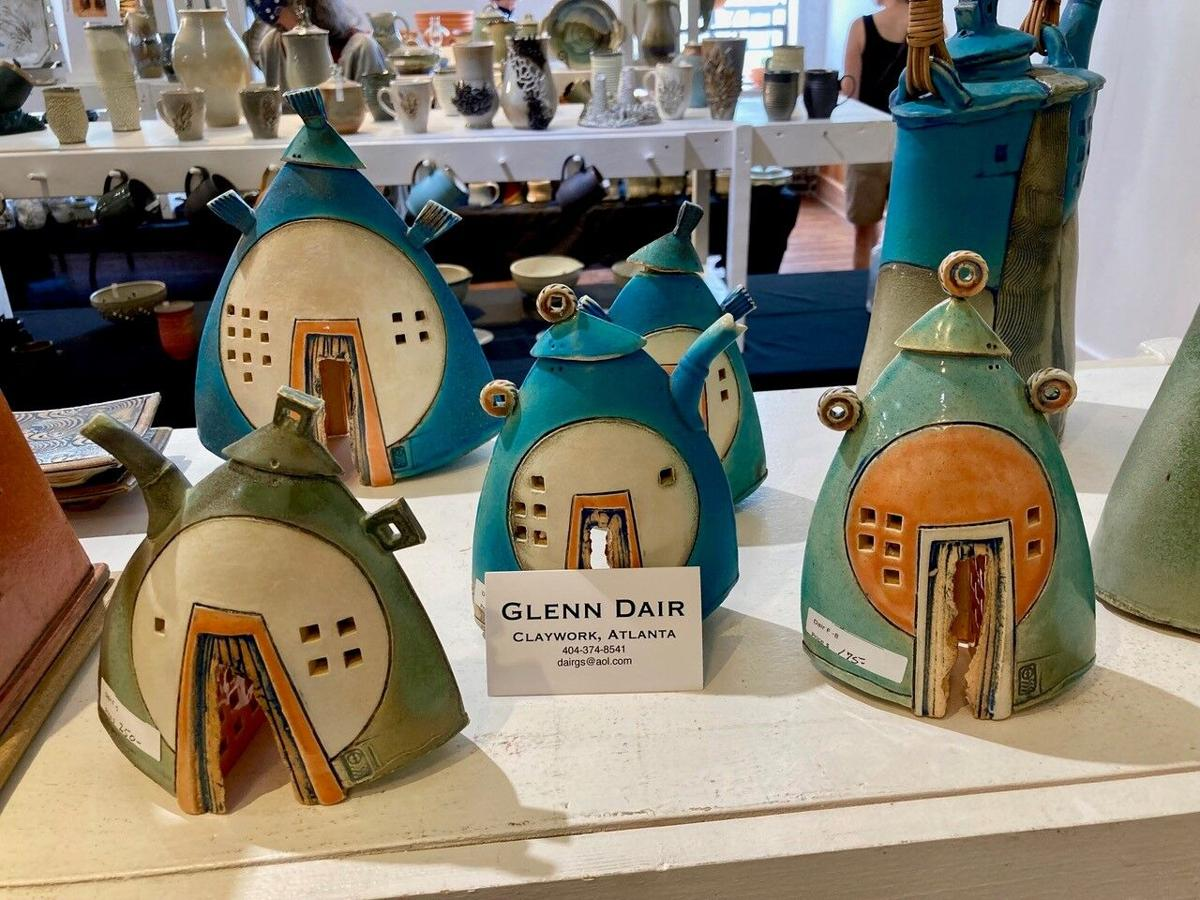 Pottery with a purpose and beauty—these teapots are by Glenn Dair.