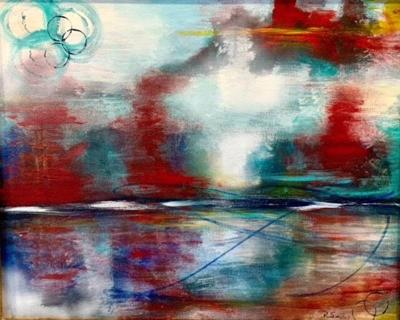 """""""Sunrise"""" Acrylic on canvas, 16x20 inches inches, by Robin Sievers"""
